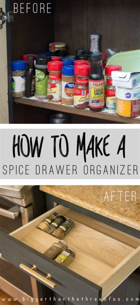 get organized with this diy spice drawer organizer