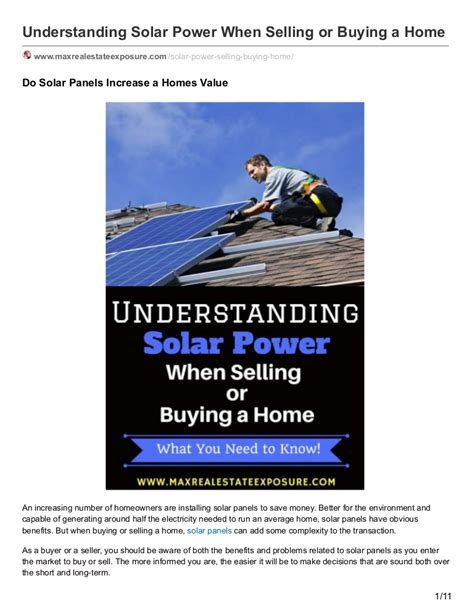 solar power what buyers and sellers need to with