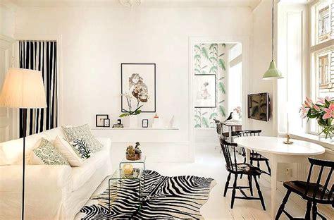 blanco  negro  el salon comedor decoracionin