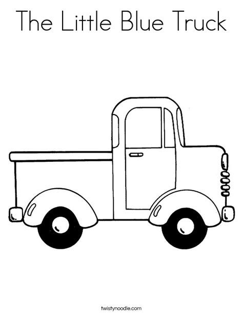Blue Truck Coloring Page blue truck coloring sheet coloring pages