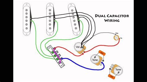 stratocaster mod wiring dual capacitors