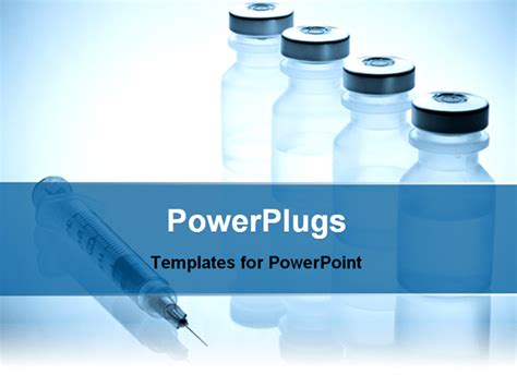 free pharmaceutical powerpoint templates image showing vials and syringe powerpoint