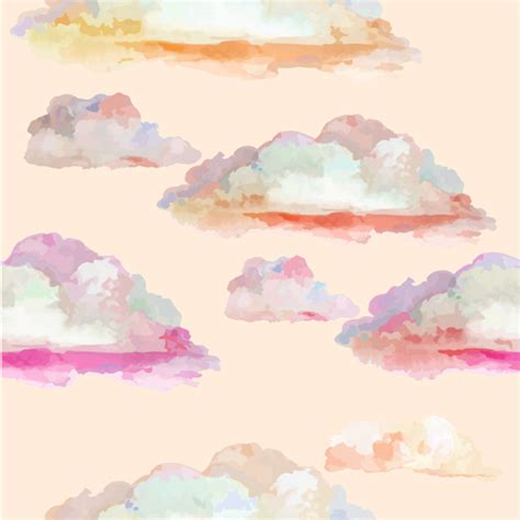 watercolor pattern download watercolor cloud seamless pattern vector vector pattern