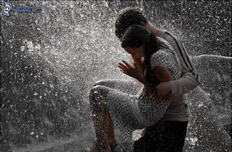 paar bilder paar im regen