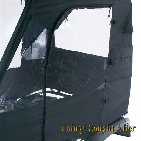 Atv Cabin Cover by Black Deluxe Atv Cabin Enclosure Canvas Cargo