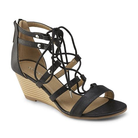 Wedges Emilly covington s emily black wedge sandal shop your way shopping earn points on