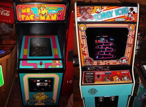 pac man arcade cabinet file ms pac man donkey kong arcade cabinets jpg