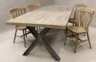 Industrial Kitchen Table Furniture Metal Base Table A Sturdy Industrial Style Table With An