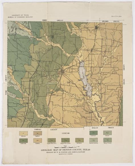 map of denton county texas geologic map of denton county texas sequence 1 the portal to texas history