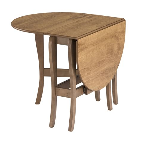 Small Gateleg Dining Table Drop Leaf Table Heatproof Folding Dining Kitchen Gateleg Seats 6 Oval Warm Oak