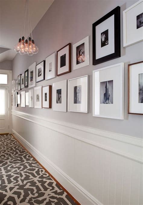 tips  visually widen  narrow hallway decorideas