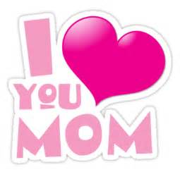 quot i love you mom with cute heart for mother s day
