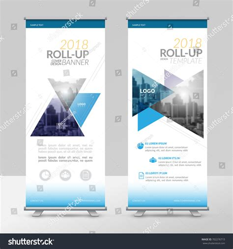 Business Roll Design Template Xstand Vertical Stock Vector 702276715 Shutterstock Exhibition Panel Design Template