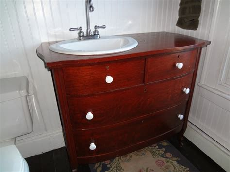 bureau dresser made into vanity bathroom