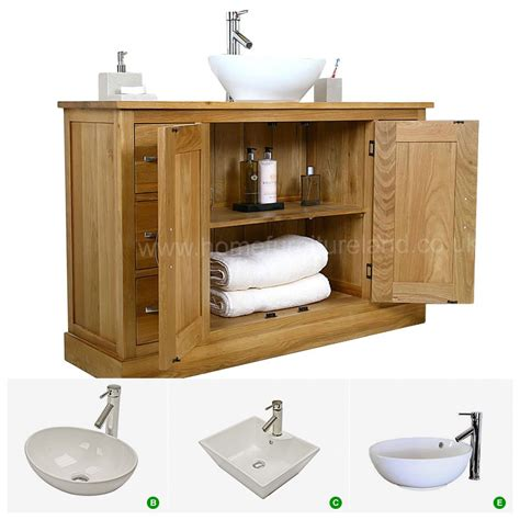 Oval Bathroom Vanity 50 Large Vanity Unit With Oval Sink Bathroom Mobel Oak