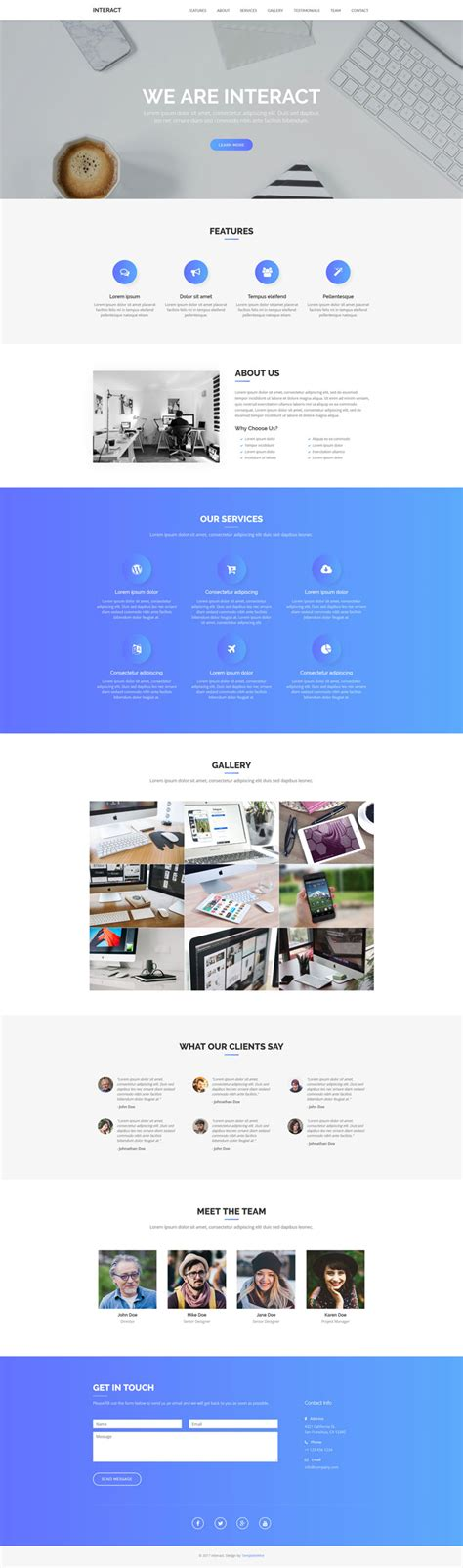 alpha one page free bootstrap template interact free one page bootstrap template bootstrap
