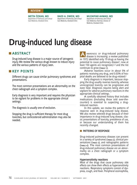 pattern analysis of drug induced skin diseases drug induced lung disease pdf download available