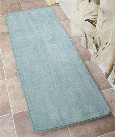 bathroom runners mats non skid plush 58 quot foam bathroom bath rug mat runner w