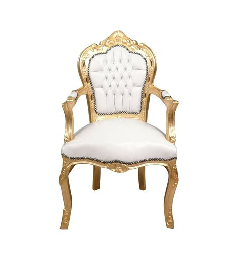 poltrona barocco poltrona barocco bianco e dorato sedia e mobili deco