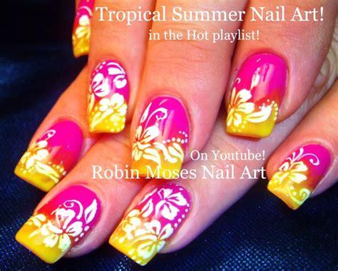 hibiscus nail art tutorial nail art tutorial diy white hibiscus nails neon pink