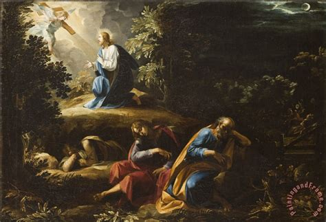 The Agony In The Garden by Guiseppe Cesari The Agony In The Garden Painting The Agony In The Garden Print For Sale