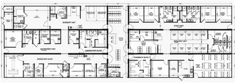 Customizable Floor Plans 50 bed transmodular hospital systems mobile medical