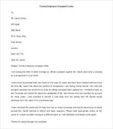 letter template complaint exle of a complaint letter about an employee cover
