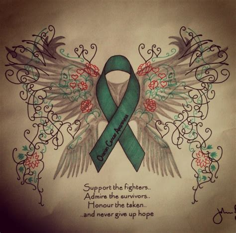 ovarian cancer tattoos designs ovarian cancer awareness by johnflynn01 on deviantart