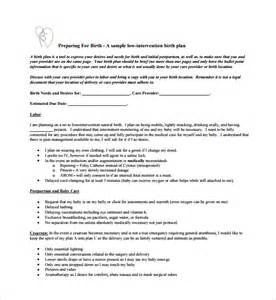 Home Birth Plan Template by 11 Birth Plan Templates Free Sle Exle Format