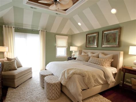 green master bedroom ideas master bedroom with green and white striped vaulted