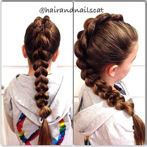 who braids christina johnson hair pull through braid hairandnailscat pinterest