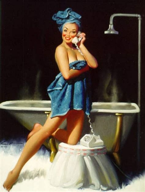 bathtub pinup beauty and the best the best pin up girl paintings
