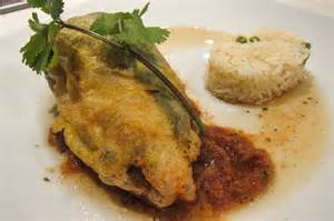 baked chile rellenos with corn and crema recipe dishmaps
