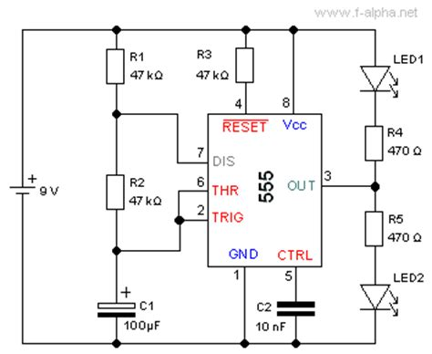 what is 555 integrated circuit f alpha net experiment 15 astable multivibrator