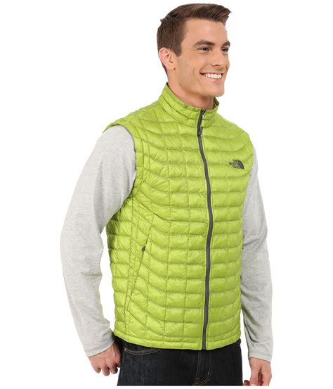 Green Vest the thermoball vest in green for lyst