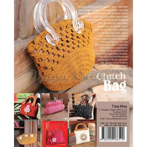Bag Clutch Rajut buku clutch bag crochet crafts