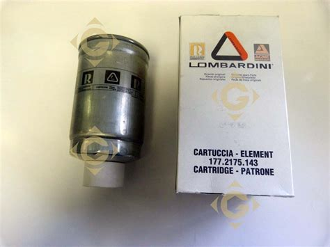 Spare Part Filter fuel filter cartridge 2175299 engines lombardini gdn