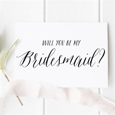 Be My Bridesmaid Card Template by Will You Be My Bridesmaid Card By Here S To Us