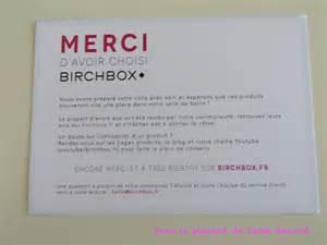 ma commande sur le eshop birchbox dans le placard de