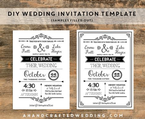 fearsome free rustic wedding invitation templates