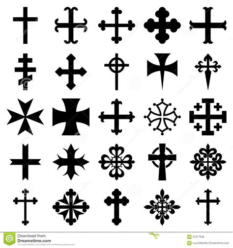 heraldic crosses icons set stock vector image of gaelic
