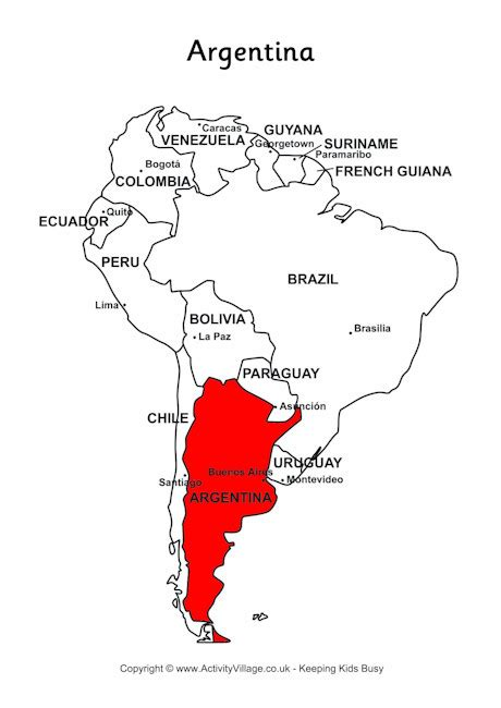 south america map argentina argentina on map of south america