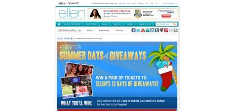 Ellen Degeneres 12 Days Of Giveaways Contest - ellen degeneres 2012 twelve days of giveaways sweepstakes