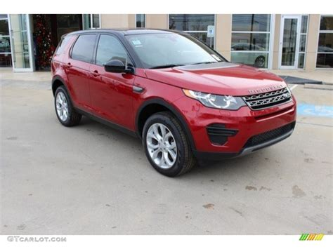 land rover discovery 2016 red 2016 firenze red metallic land rover discovery sport se