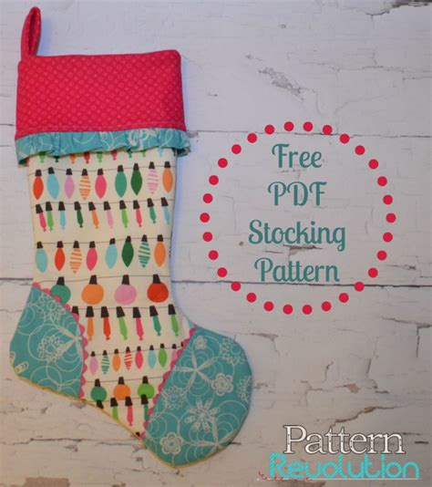 free pattern for christmas stocking with cuff free cuffed stocking pattern pattern revolution
