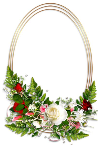 oval christmas frames oval transparent photo frame with flowers gallery yopriceville high quality images and