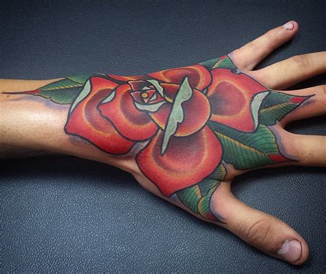 rose tattoo on hand meaning 30 tattoos for