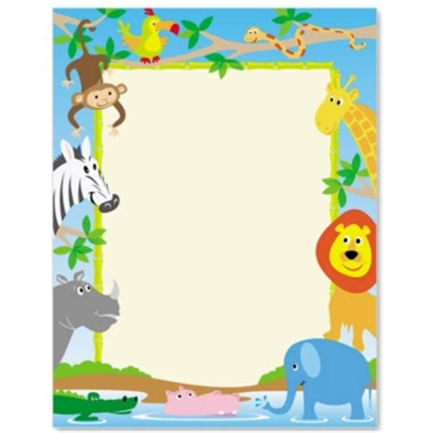 zoo crew paperframes border papers paperdirect