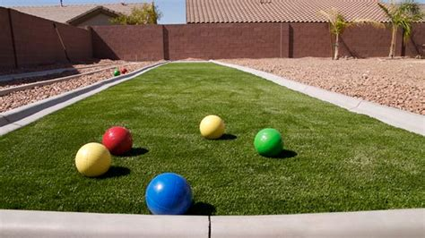backyard bocce ball court 5 ways to add outdoor play to your yard synlawn
