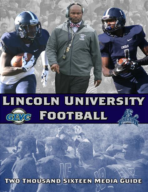 lincoln blue tigers football 2016 lincoln football media guide by lincoln